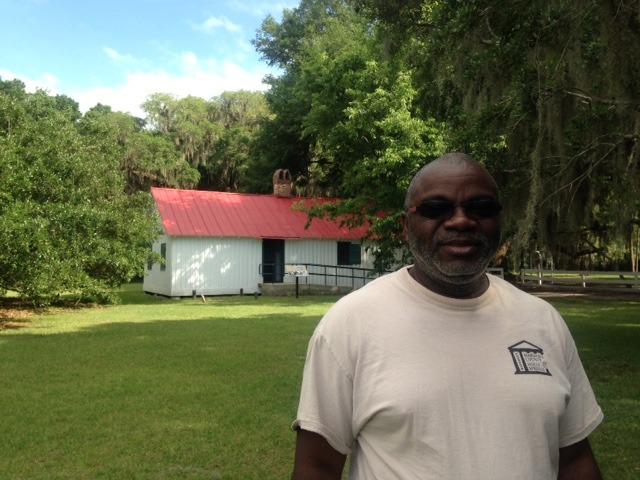 Joe McGill, of the Slave Dwelling Project, at Hofwyl-Broadfield Plantation